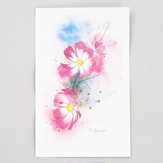 花を描く(水彩画)