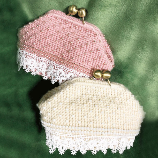 芝裕子のかぎ針編のがま口