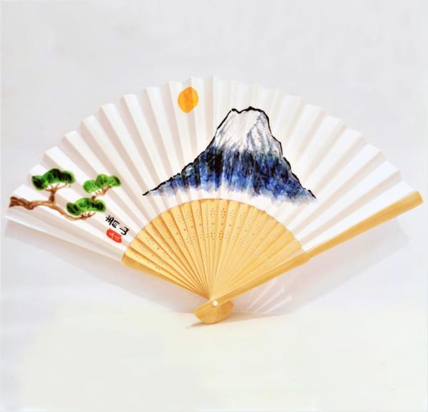 《お正月講習》扇子の絵付けA 富士山